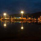 Ullapool harbour by night, Scotland by Gabor Pozsgai