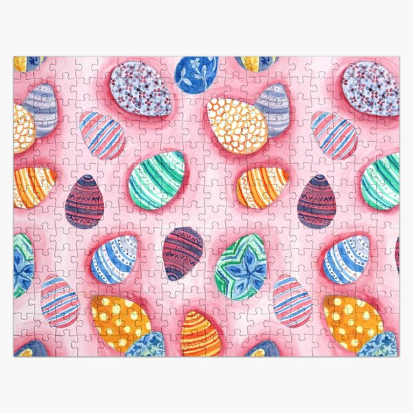 Easter Egg Watercolor Pattern Jigsaw Puzzle