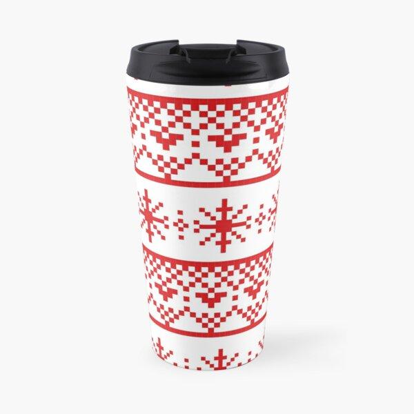 Red flakes Travel Mug