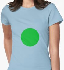 Circle Green Womens Fitted T-Shirt