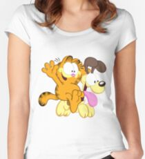 Garf happy Ride! Women's Fitted Scoop T-Shirt