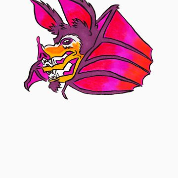 Naughty Bat with a case of the double mouth! by eggokc