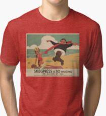 Vintage poster - Skegness Tri-blend T-Shirt