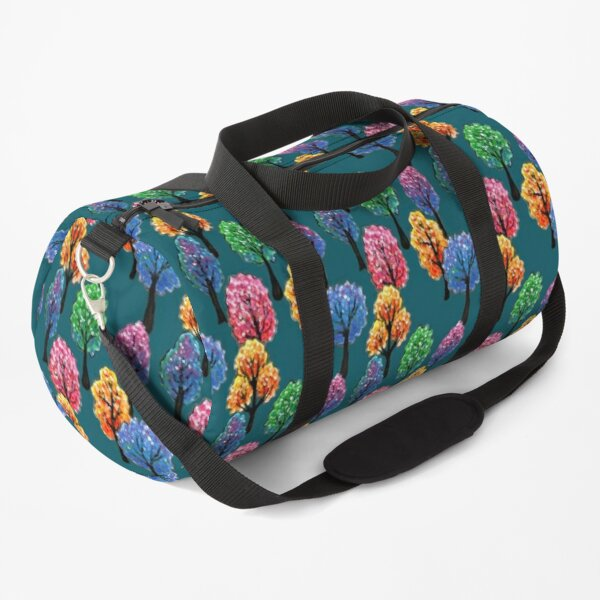 Forest - Tree Pattern Illustration - Acrylic Painting Duffle Bag