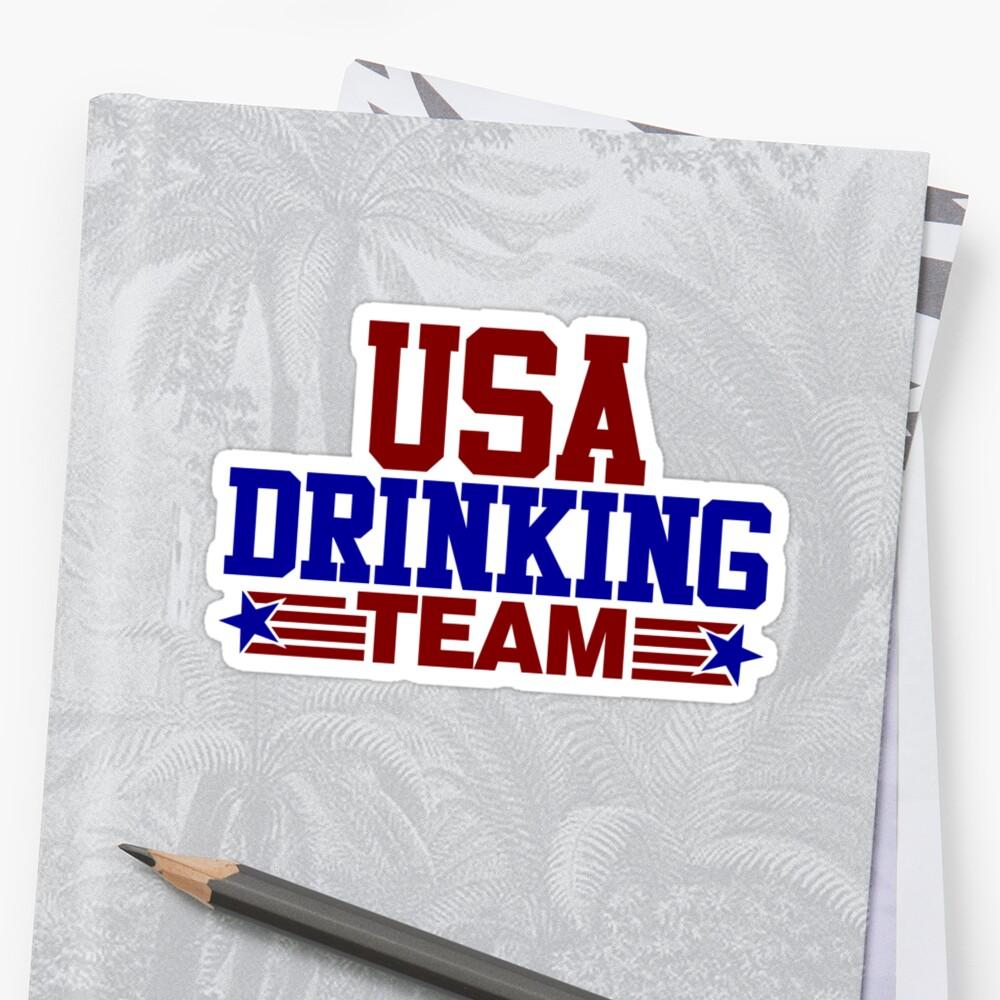 «Equipo bebedor de Estados Unidos» de David Ayala