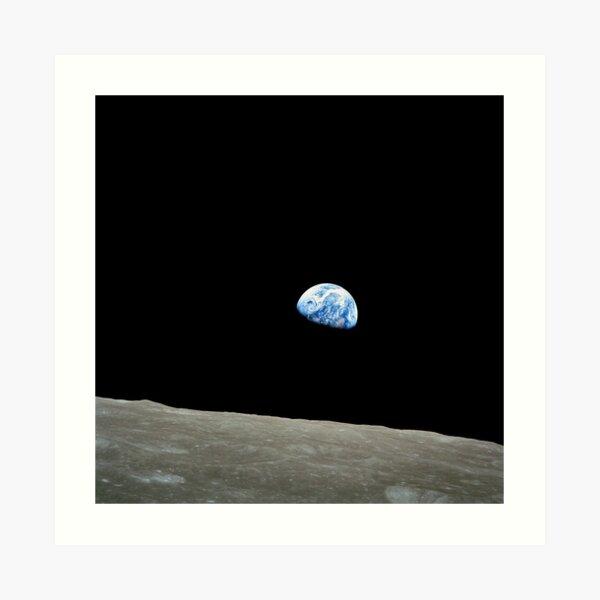 Apollo 8 NASA Moon Mission Earthrise Art Print