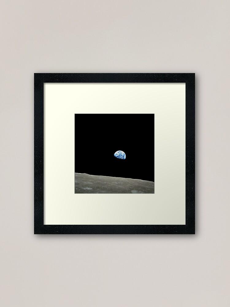 Alternate view of Apollo 8 NASA Moon Mission Earthrise Framed Art Print