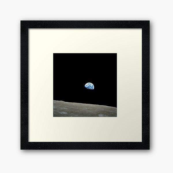 Apollo 8 NASA Moon Mission Earthrise Framed Art Print