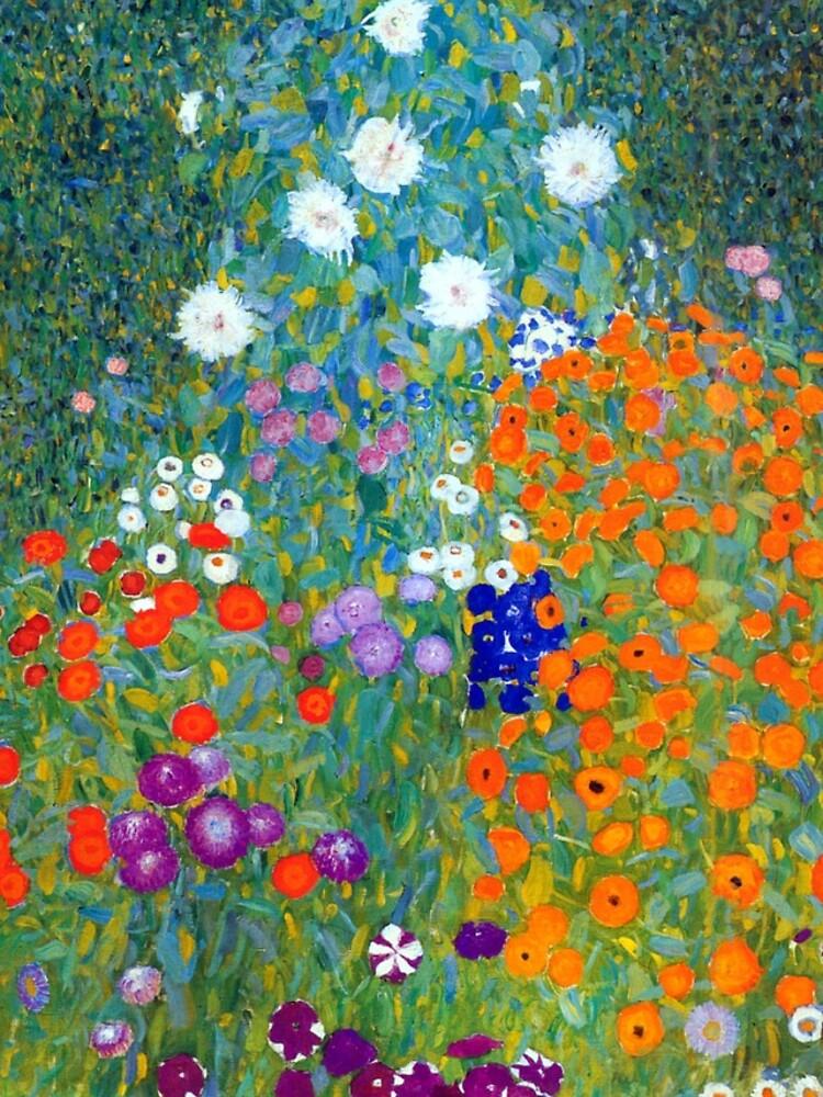 Gustav Klimt Flower Garden by pdgraphics