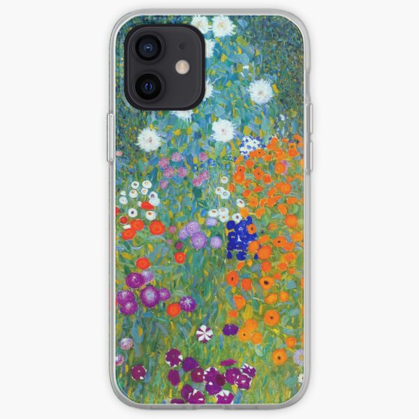 Gustav Klimt Flower Garden iPhone Soft Case