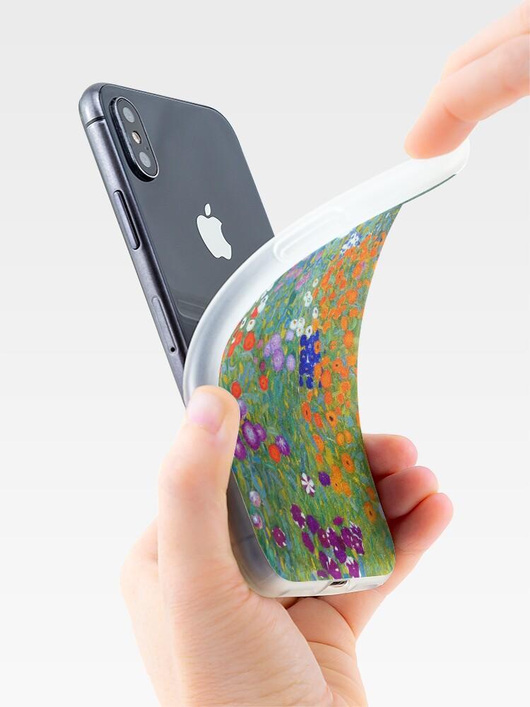 Alternate view of Gustav Klimt Flower Garden iPhone Case & Cover
