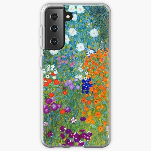 Gustav Klimt Flower Garden Samsung Galaxy Soft Case