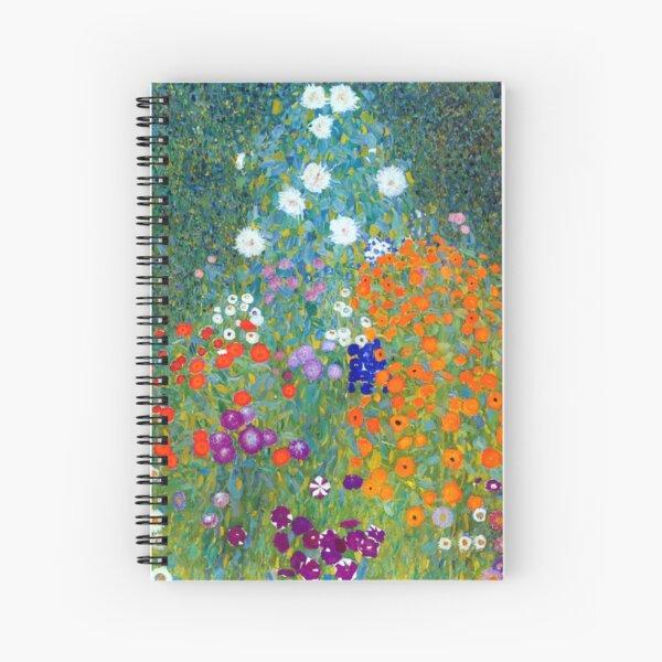 Gustav Klimt Flower Garden Spiral Notebook