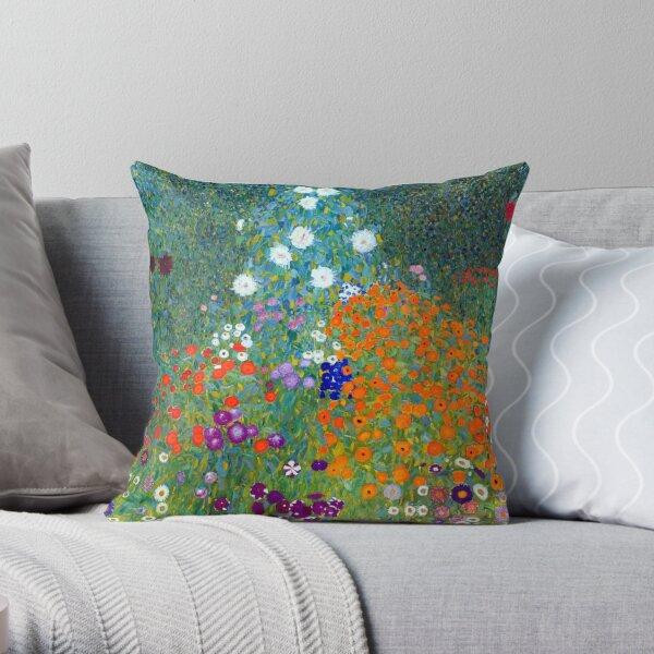 Gustav Klimt Flower Garden Coussin