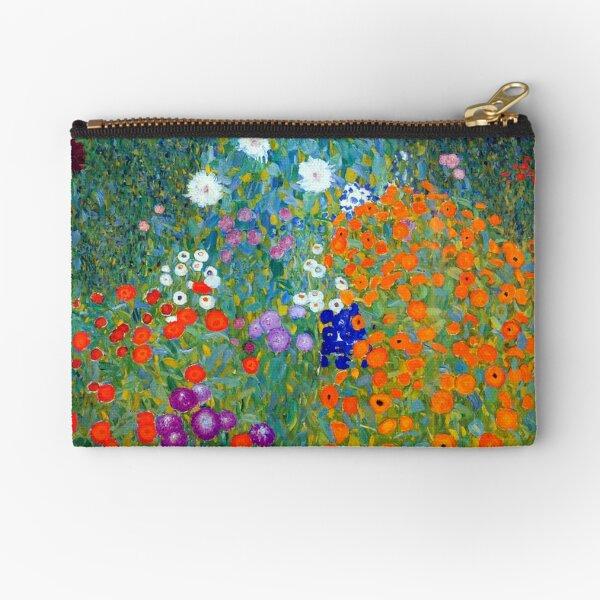 Gustav Klimt Flower Garden Zipper Pouch