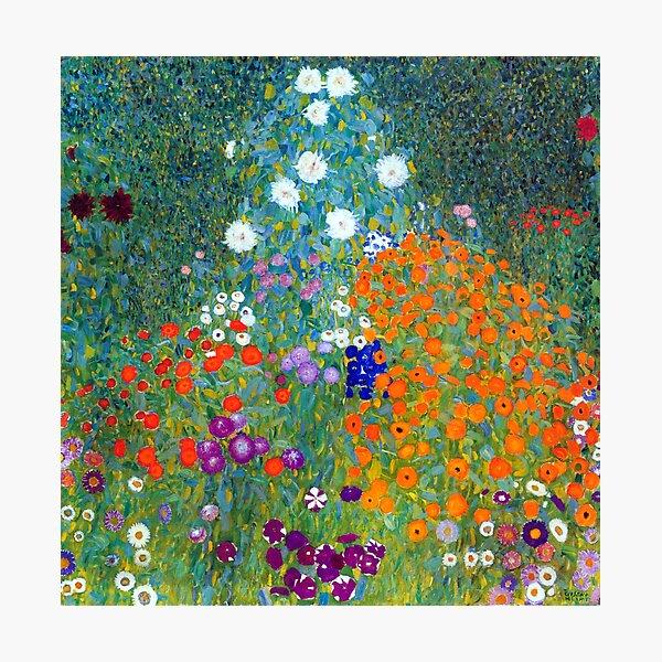 Gustav Klimt Flower Garden Photographic Print