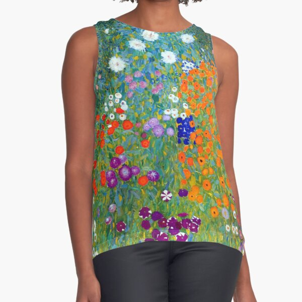 Jardín de flores Gustav Klimt Blusa sin mangas