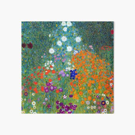 Gustav Klimt Flower Garden Art Board Print
