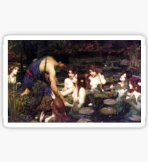 Hylas and the Nymphes by J. W. Waterhouse Sticker