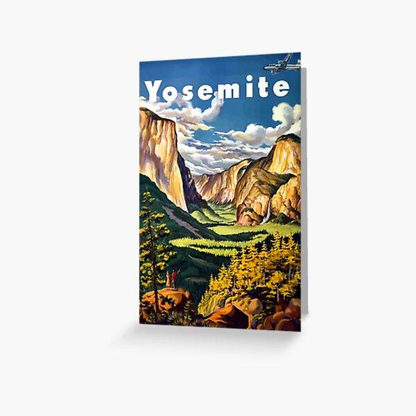 Vintage Yosemite National Park California Travel Greeting Card
