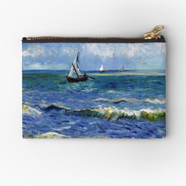 Vincent van Gogh Seascape near Les Saintes-Maries-de-la-Mer Zipper Pouch