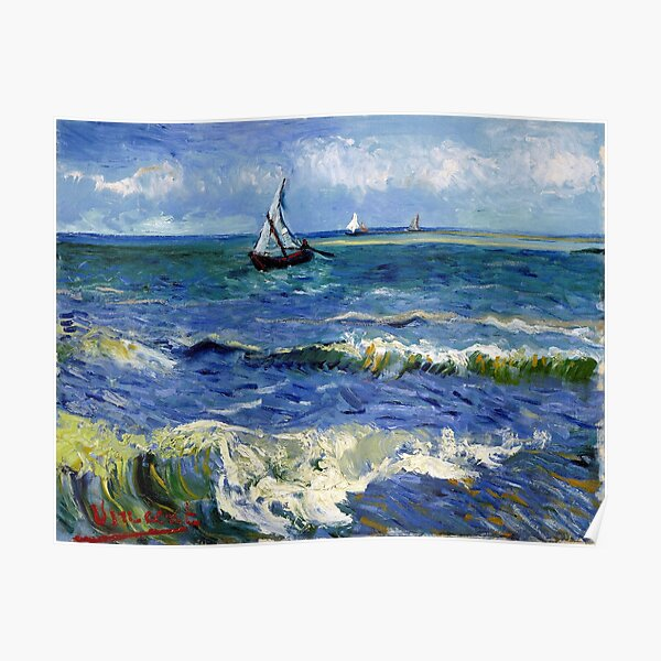 Vincent van Gogh Seascape near Les Saintes-Maries-de-la-Mer Poster
