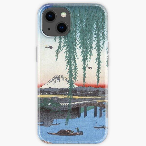 Utagawa Hiroshige Yatsumi Bridge iPhone Soft Case