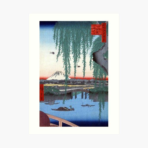 Utagawa Hiroshige Yatsumi Bridge Art Print