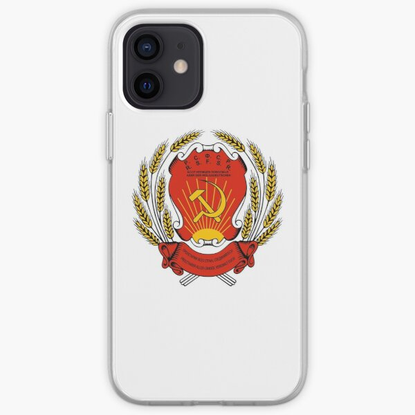 Coat of arms of Russia - Russian Soviet Federative Socialist Republic iPhone Soft Case