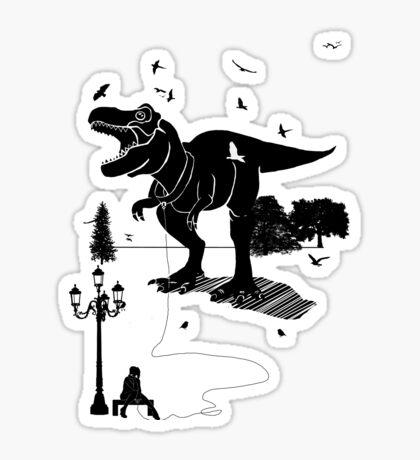 Playtime Dinosaur- Black Sticker