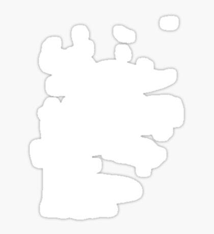 Playtime Dinosaur - White Sticker