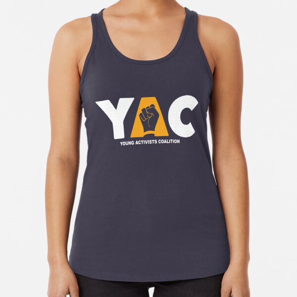 YAC Logo White Racerback Tank Top