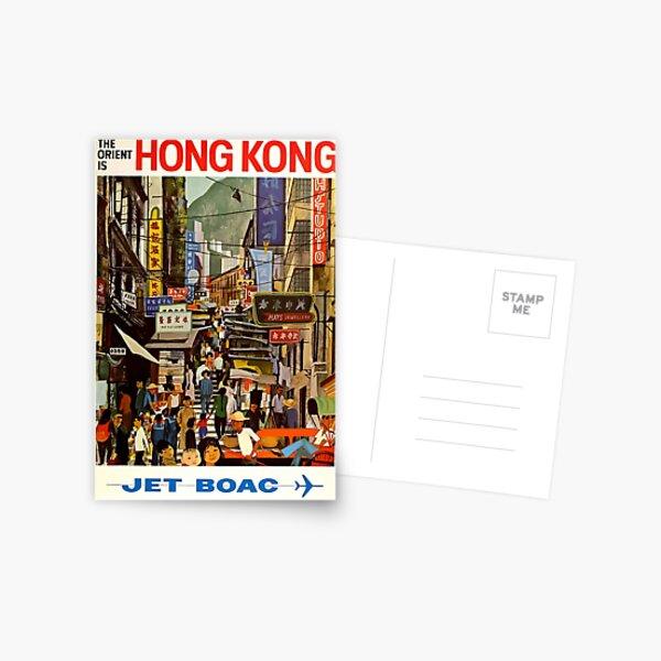 Vintage Airline Hong Kong China Travel Postcard