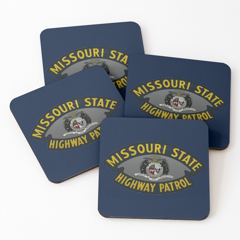 Missouri State Highway Patrol  Coasters (Set of 4)