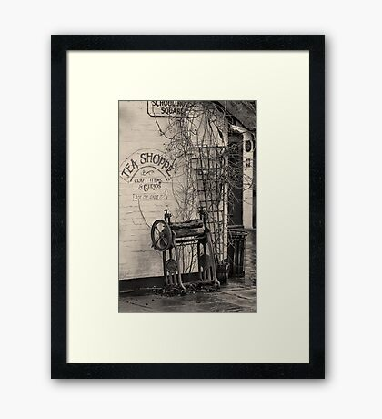 Dead ringer and the Tea Shoppe Framed Print