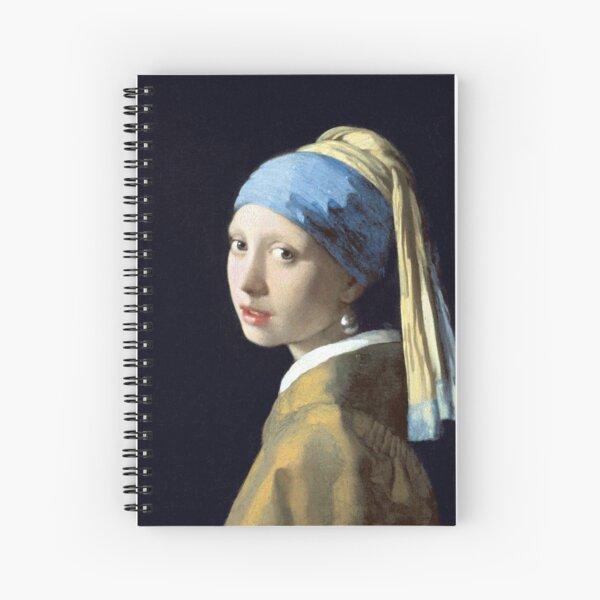 Johannes Vermeer Fille avec une perle Cahier à spirale