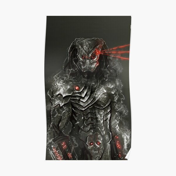 Predator Vs Alien Movie Cartoon Wall Art Large Poster /& Canvas Pictures