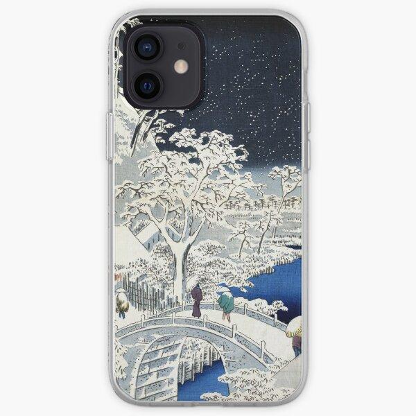 Utagawa Hiroshige Meguro Drum Bridge and Sunset Hill iPhone Soft Case