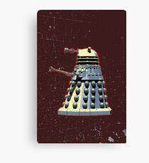 Vintage Look Doctor Who Dalek Graphic Canvas Print