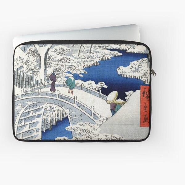 Utagawa Hiroshige Meguro Drum Bridge and Sunset Hill Laptop Sleeve