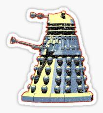 Vintage Look Doctor Who Dalek Graphic Sticker