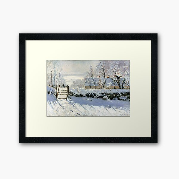 Claude Monet The Magpie Framed Art Print