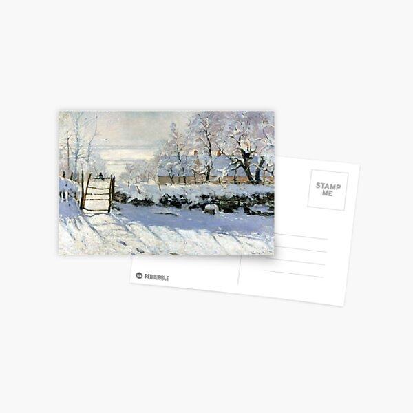 Claude Monet The Magpie Postcard