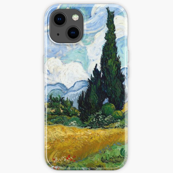 Vincent van Gogh Wheatfield with Cypresses iPhone Soft Case