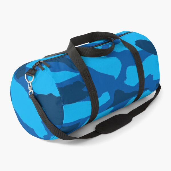 Blue camouflage pattern Duffle Bag