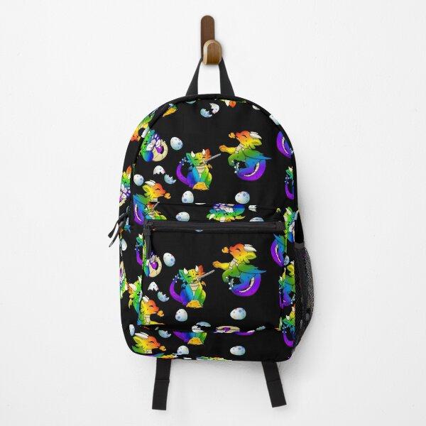 Rainbow Dragon Print Backpack