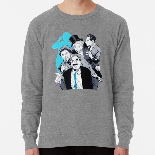 The Marx Brothers - An illustration by Paul Cemmick Lightweight Sweatshirt