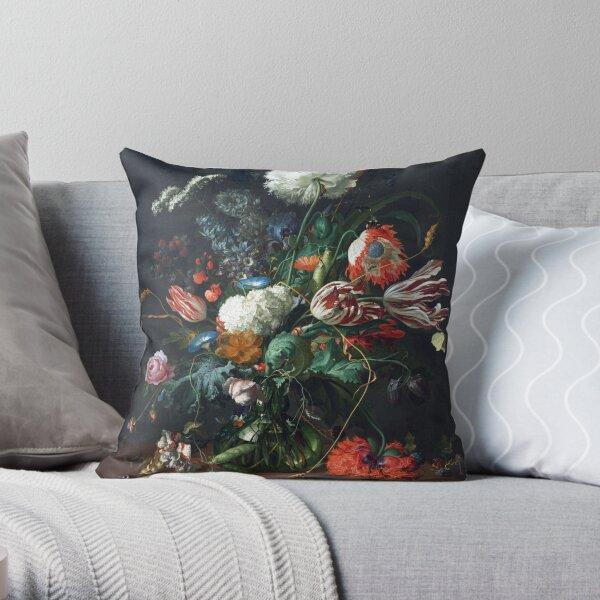Jan Davidsz de Heem Vase of Flowers Throw Pillow
