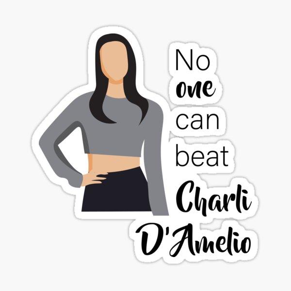 Charli D 'Amelio, un famoso tiktoker Pegatina