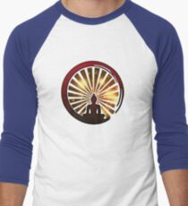 Enso Zen Circle, Meditation, Buddha, Buddhism, Japan, Sun Men's Baseball ¾ T-Shirt